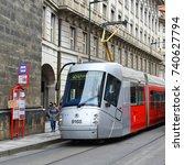 prague  czech republic   may 7  ... | Shutterstock . vector #740627794