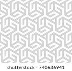 seamless geometric pattern.... | Shutterstock .eps vector #740636941