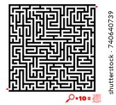 vector illustration. labyrinth. ... | Shutterstock .eps vector #740640739