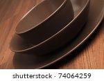 a table setting with different... | Shutterstock . vector #74064259