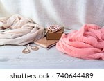 accessories set for women ...   Shutterstock . vector #740644489