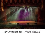 theatrical scene without actors ... | Shutterstock . vector #740648611