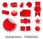 set of red vector price tags | Shutterstock .eps vector #74065564