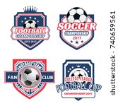 soccer club icons or football... | Shutterstock .eps vector #740659561