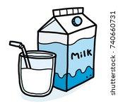 milk   cartoon vector and... | Shutterstock .eps vector #740660731
