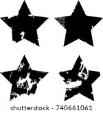 grunge post stamps collection ... | Shutterstock .eps vector #740661061