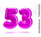 pink fuchsia glossy celebrate... | Shutterstock . vector #740665081