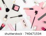set of professional decorative... | Shutterstock . vector #740671534