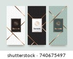 vector set packaging templates... | Shutterstock .eps vector #740675497