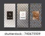 vector set packaging templates... | Shutterstock .eps vector #740675509