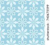 floral seamless pattern. light... | Shutterstock .eps vector #740675599