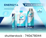 energy realistic set mock up.... | Shutterstock .eps vector #740678044
