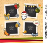 decorative vector template... | Shutterstock .eps vector #740683411