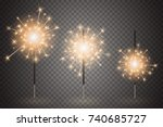 christmas bengal light set.... | Shutterstock .eps vector #740685727