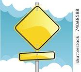 traffic sign | Shutterstock .eps vector #74068588