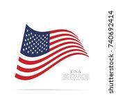 united states of america... | Shutterstock .eps vector #740692414