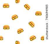 hamburger texture pattern fast... | Shutterstock .eps vector #740694985