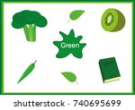 learn the colors  kids are...   Shutterstock .eps vector #740695699