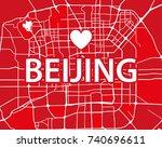 vector illustration map of... | Shutterstock .eps vector #740696611