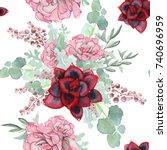 watercolor seamless pattern of...   Shutterstock . vector #740696959