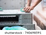 cleanliness of plastic pallet... | Shutterstock . vector #740698591