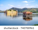 jal mahal  water palace  in man ... | Shutterstock . vector #740700961
