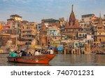 varanasi  india  october 12 ...   Shutterstock . vector #740701231