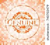 genuine abstract emblem  orange ... | Shutterstock .eps vector #740702479