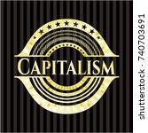 capitalism golden emblem or... | Shutterstock .eps vector #740703691