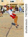 cadiz  spain   july 19 ... | Shutterstock . vector #740706205