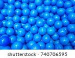 blue plastic ball background | Shutterstock . vector #740706595