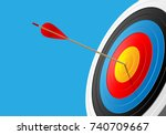 Archery Target And Arrow 3d On...