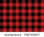 red and black lumberjack... | Shutterstock .eps vector #740710357