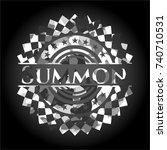 summon on grey camo texture | Shutterstock .eps vector #740710531