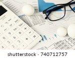 calculator rounding numbers... | Shutterstock . vector #740712757