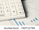 calculator conceptual diagram.... | Shutterstock . vector #740712784