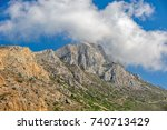 mountain on crete island  greece | Shutterstock . vector #740713429