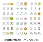 set vector line icons  sign and ... | Shutterstock .eps vector #740721241