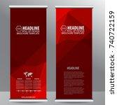roll up business brochure flyer ...   Shutterstock .eps vector #740722159