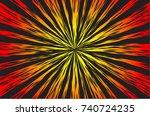 hyper speed warp sun rays or...   Shutterstock . vector #740724235