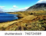 connemara is a cultural region...   Shutterstock . vector #740724589