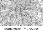 illustration map of the city of ... | Shutterstock . vector #740727355