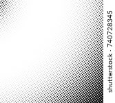 vector abstract dotted halftone ... | Shutterstock .eps vector #740728345