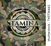 stamina on camo texture | Shutterstock .eps vector #740736661