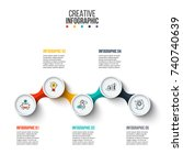 business data visualization.... | Shutterstock .eps vector #740740639