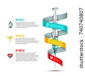 vector syringe infographic.... | Shutterstock .eps vector #740740807