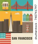 San Francisco Vector Icon Set