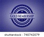 gold membership emblem with...