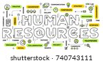 company human resources concept.... | Shutterstock .eps vector #740743111