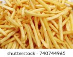 french fries at street food | Shutterstock . vector #740744965